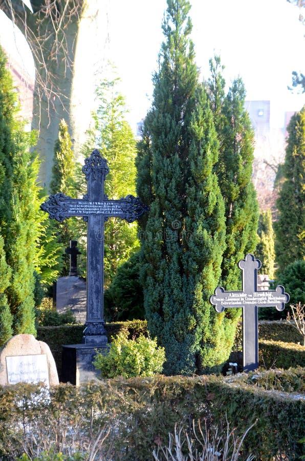 Begraafplaats van verschillende culturen royalty-vrije stock foto