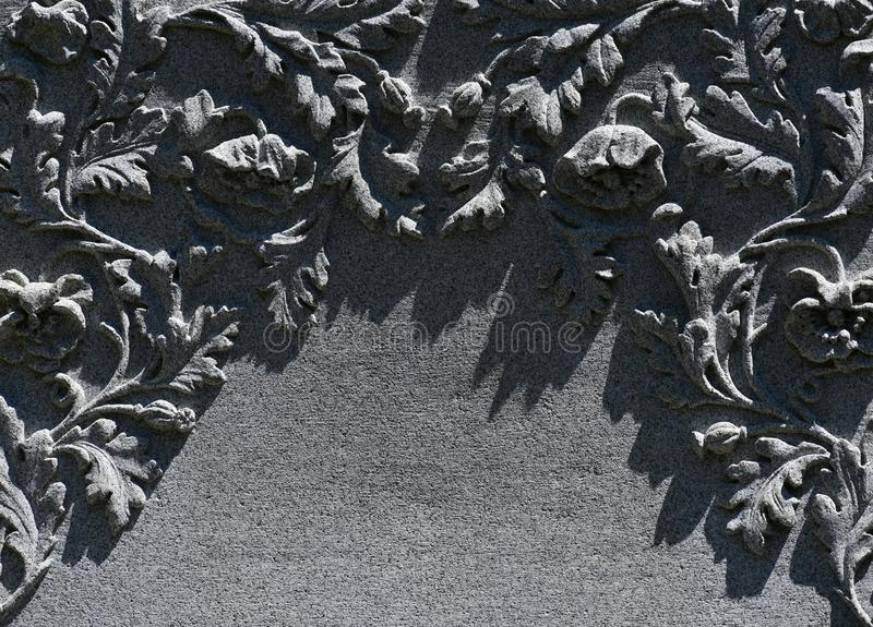 Begraafplaatsgrafsteen bij de historische begraafplaats van Savannah Georgia stock foto's