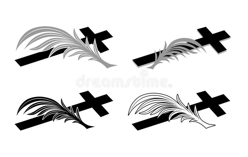 begrafenis royalty-vrije illustratie