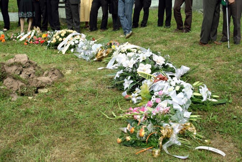 Begrafenis royalty-vrije stock afbeelding