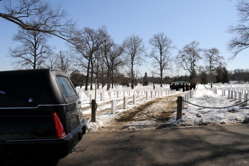 Begrafenis bij Begraafplaats Arlington royalty-vrije stock fotografie