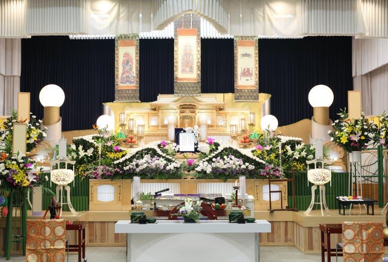 Begrafenis van Japanse stijl royalty-vrije stock afbeeldingen