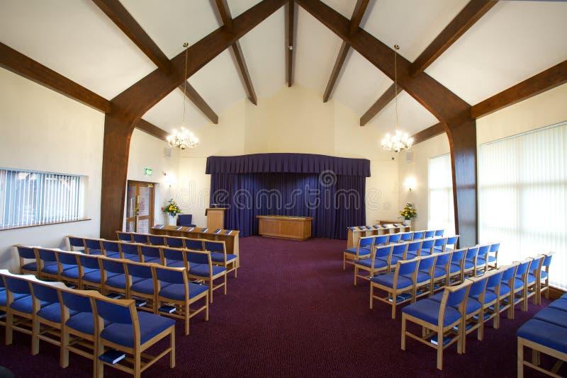 Begrafeniskapel stock afbeelding