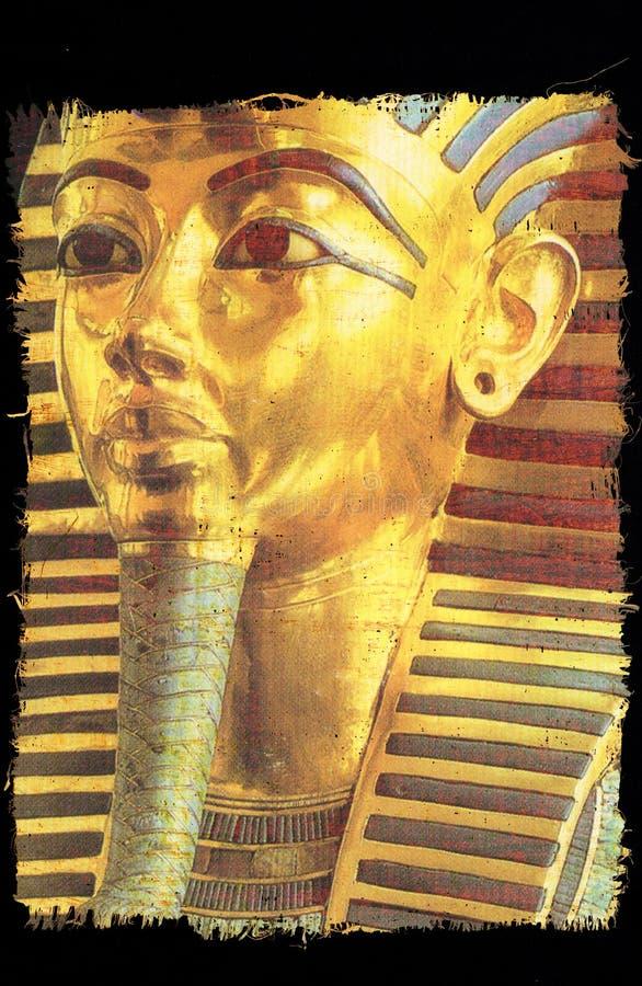 Begrafenismasker van de Egyptische farao Tutankhamun stock afbeelding