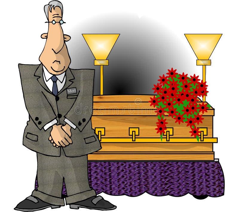 Begrafenisondernemer royalty-vrije illustratie