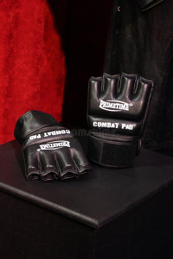 Begrafenisondernemershandschoenen van Wrestlemania 30 royalty-vrije stock fotografie