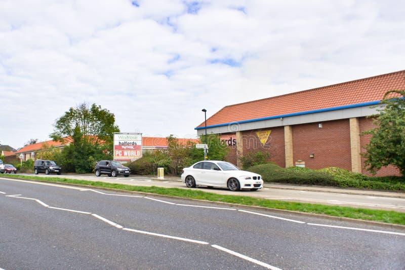 Begrava detaljhandel för St Edmunds parkerar arkivfoton