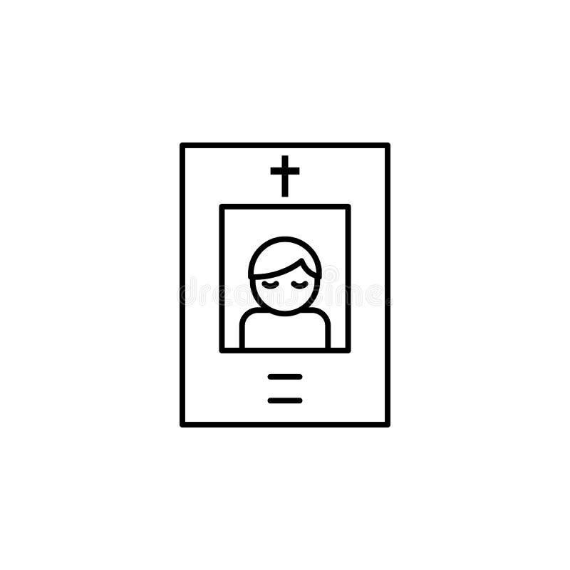 begravning död, pappersöversiktssymbol detaljerad uppsättning av dödillustrationsymboler Kan anv?ndas f?r reng?ringsduken, logoen stock illustrationer