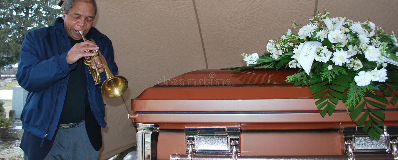 begravnings- jazz royaltyfri bild