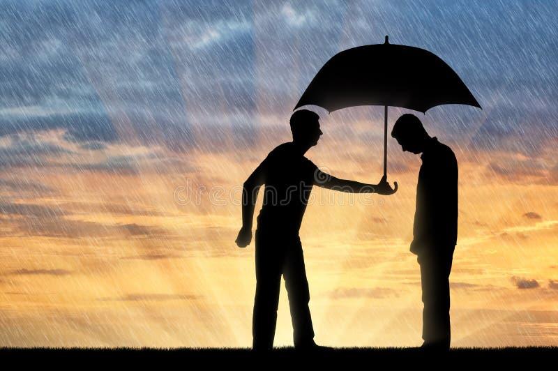Begrepp av altruism i samhälle arkivbild