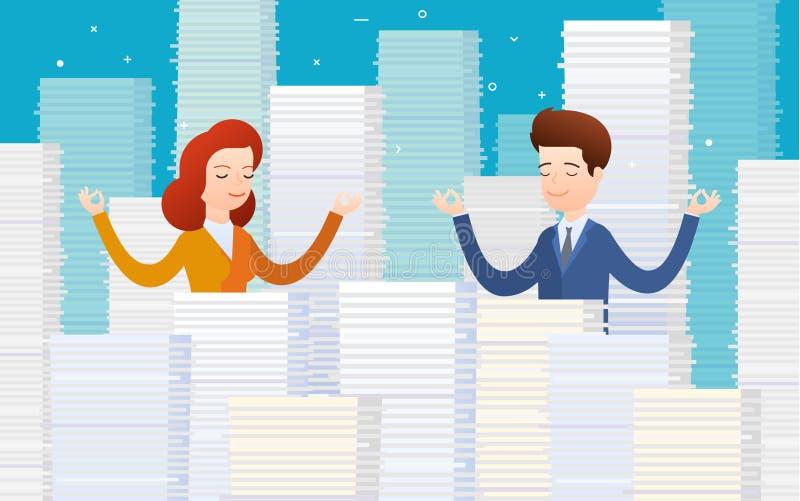 Begrepp av arbetsbördan stock illustrationer