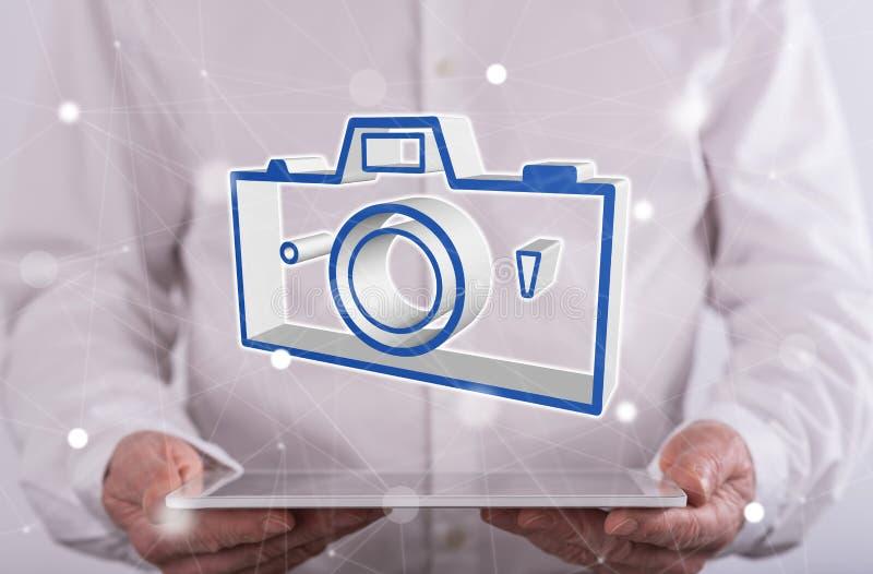Begrepp av att dela för bilder arkivfoto