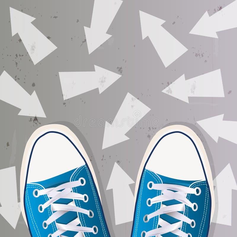 Begrepp av att välja en yrkesmässig riktning för en ung student vektor illustrationer