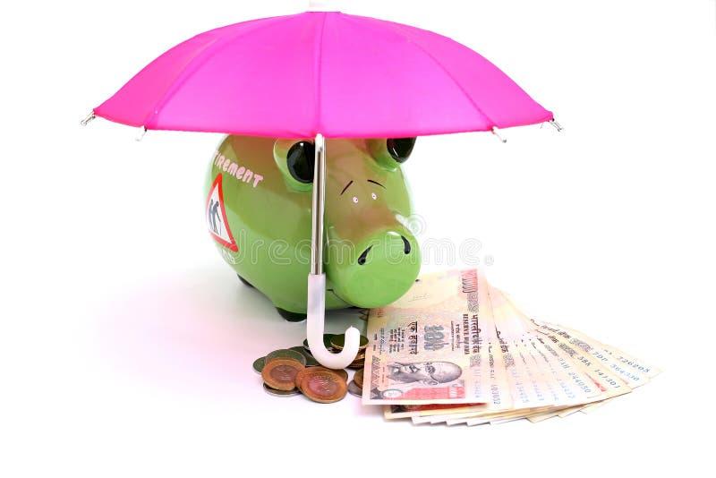 Begrepp av avgångbesparingfonden royaltyfri bild