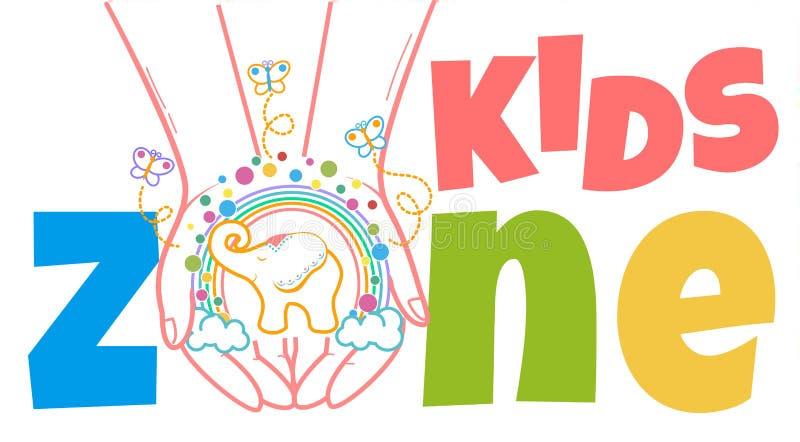 Begrepp av barns utvecklingungezonen royaltyfri illustrationer