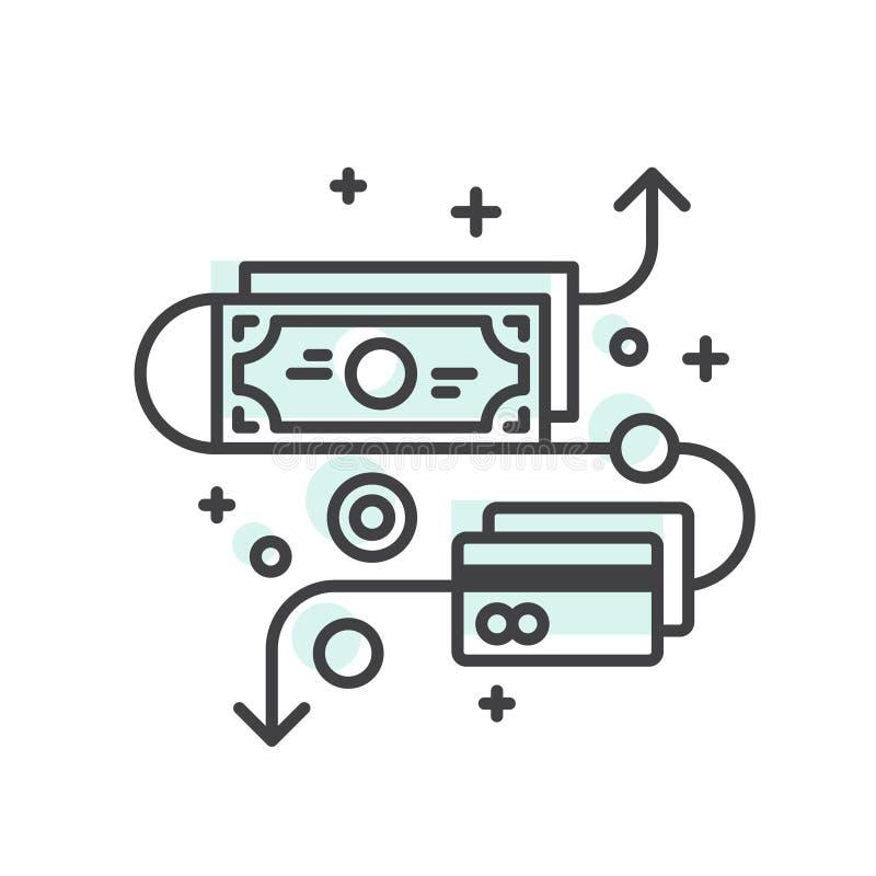 Begrepp av besparingar och pengar stock illustrationer