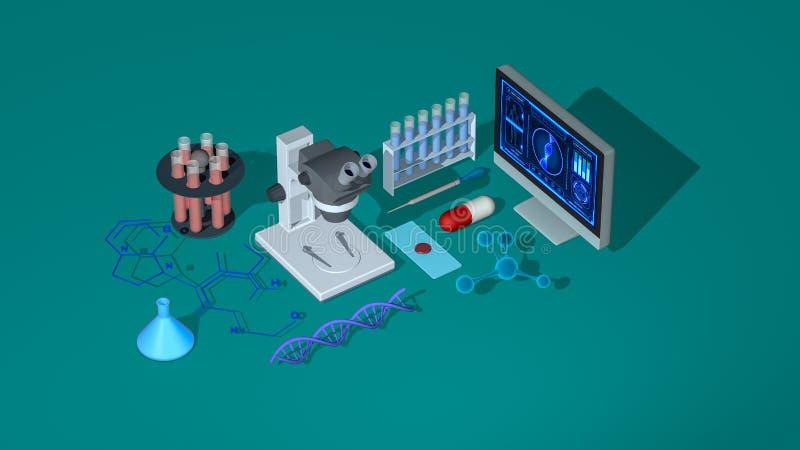 Begrepp av biologi, genetik, kemi vektor illustrationer