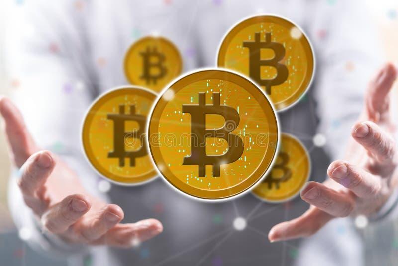 Begrepp av bitcoin royaltyfria bilder