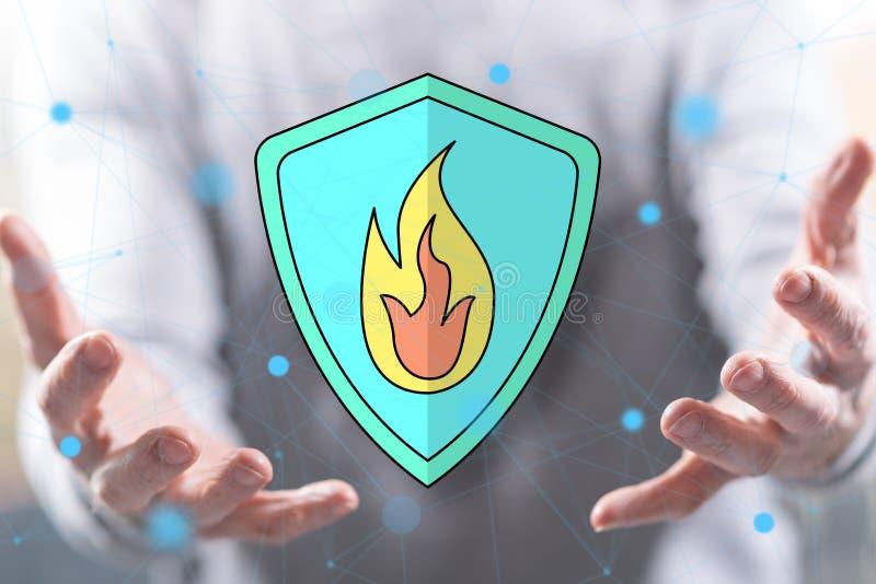 Begrepp av brandskydd royaltyfria foton