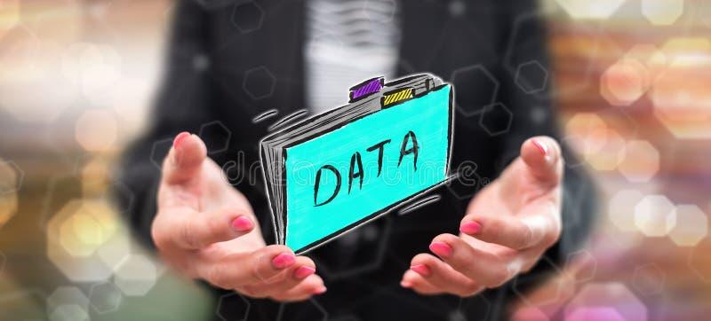 Begrepp av data stock illustrationer