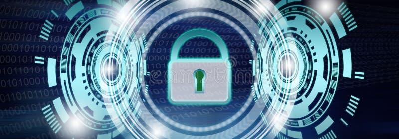 Begrepp av datasäkerhet stock illustrationer