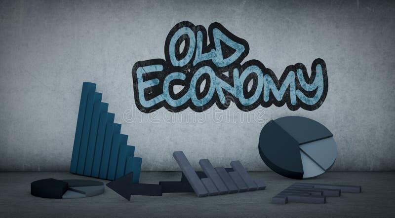 Begrepp av den ekonomiska krisen royaltyfri illustrationer