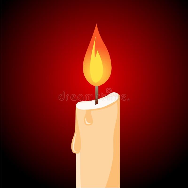 Begrepp av den flammande ljusstaken stearinljusvektor stock illustrationer