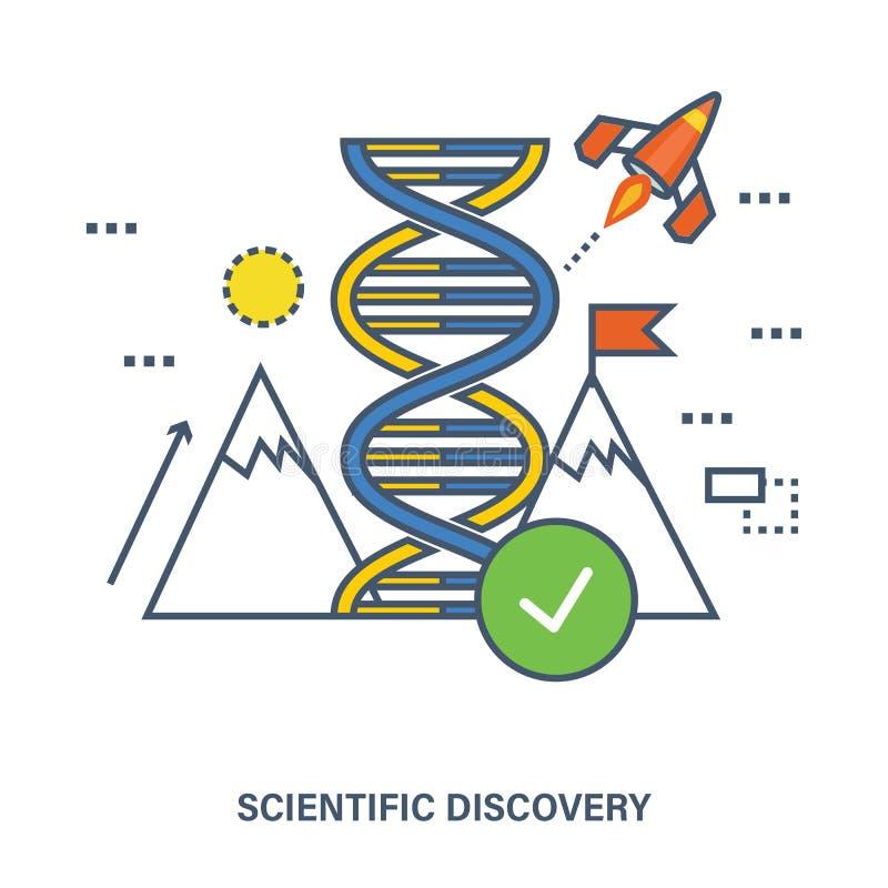 Begrepp av den global vetenskaplig upptäckten och innovation royaltyfri illustrationer