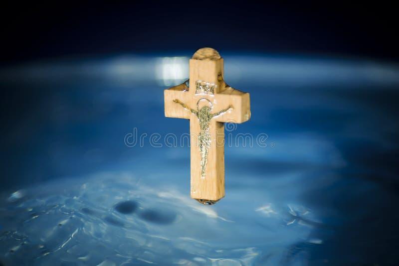 Begrepp av dop och rening i den kristna religionen, c royaltyfria foton