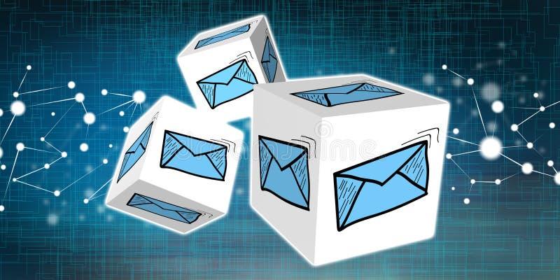 Begrepp av e-posten royaltyfri illustrationer