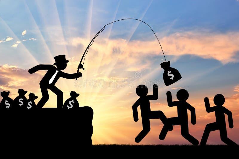 Begrepp av ekonomisk ojämlikhet vektor illustrationer