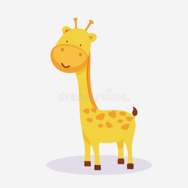 Begrepp av en giraffdjurtecknad film royaltyfri illustrationer