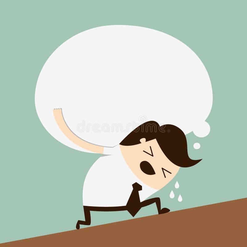 Begrepp av en trött affärsman vektor illustrationer