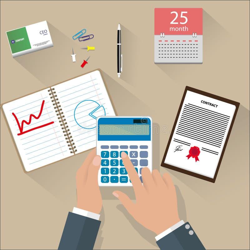 Begrepp av företags finans royaltyfri illustrationer