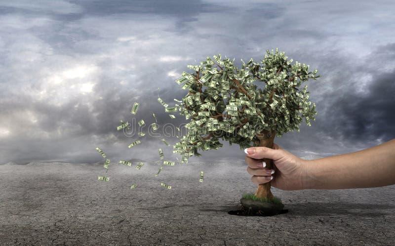 Begrepp av förlust dina pengar royaltyfri foto