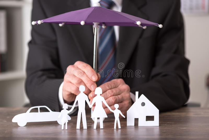 Begrepp av försäkring royaltyfria foton