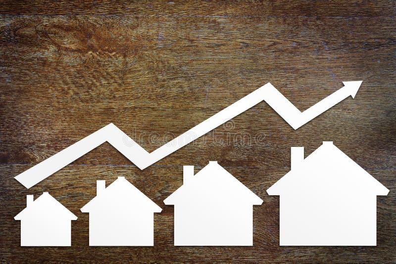 Begrepp av fastighetförsäljningstillväxt arkivfoto