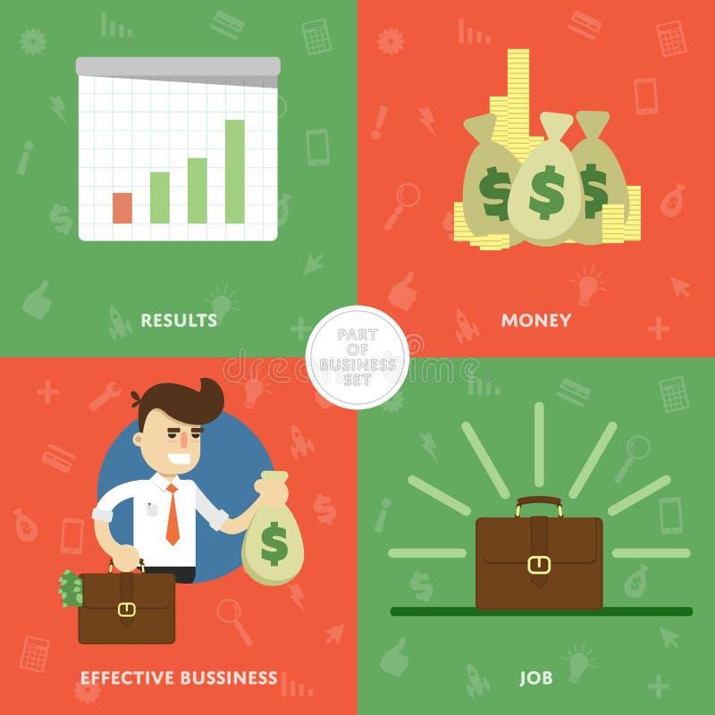 Begrepp av framgång en ny utveckling stock illustrationer