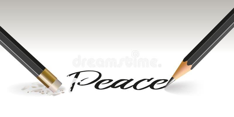 Begrepp av hoppet av fred som försvinner stock illustrationer