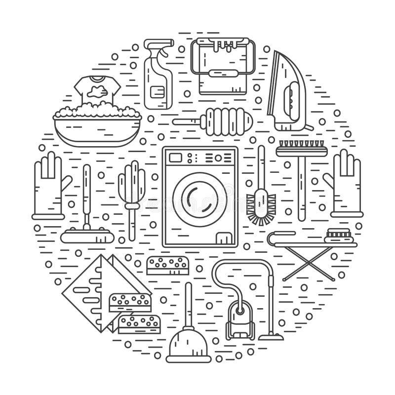 Begrepp av hushållning vektor illustrationer