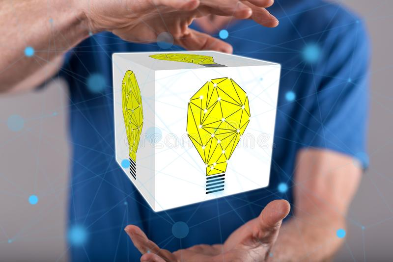 Begrepp av innovation arkivbild