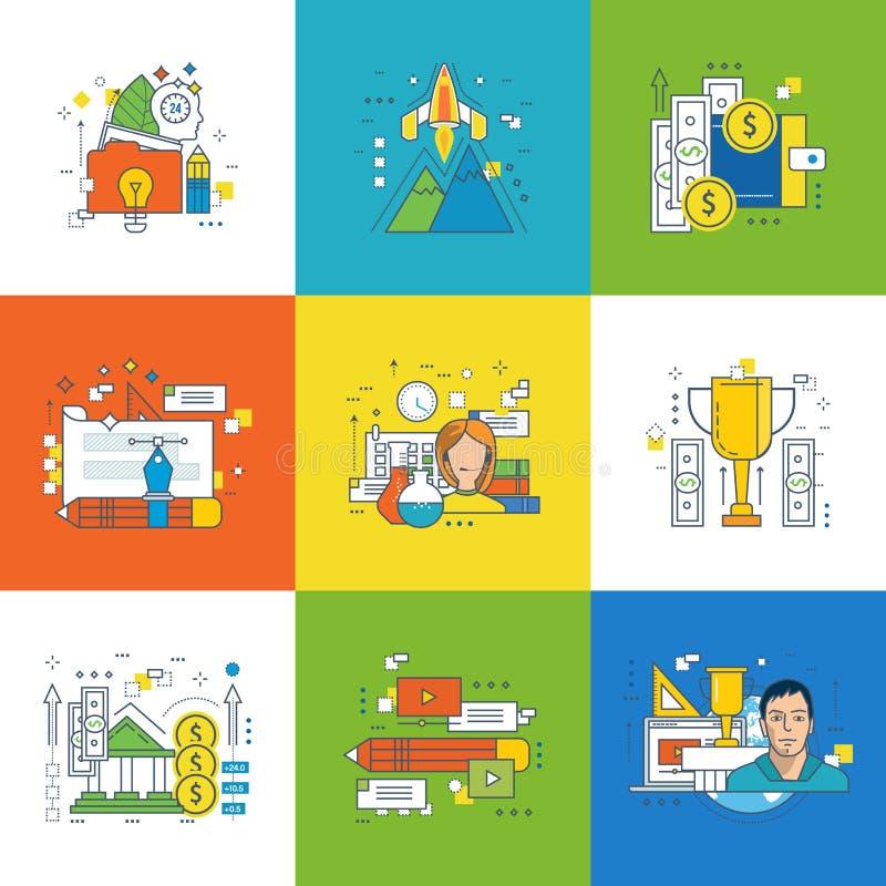 Begrepp av innovation vektor illustrationer