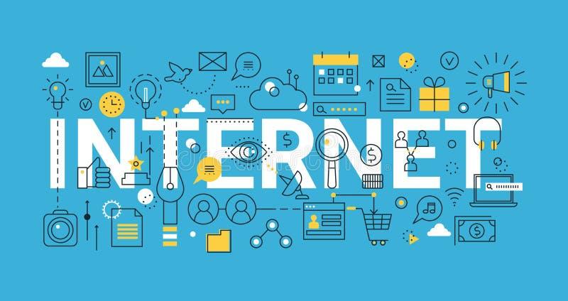 Begrepp av internet, för diagram och rengöringsdukdesign royaltyfri illustrationer