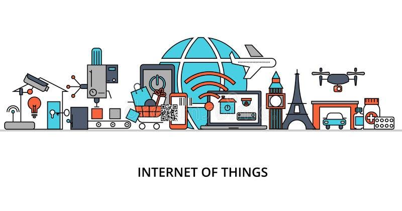 Begrepp av internet av saker vektor illustrationer