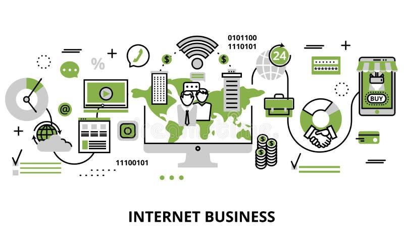 Begrepp av internetaffärsprocessen och finansframgång stock illustrationer