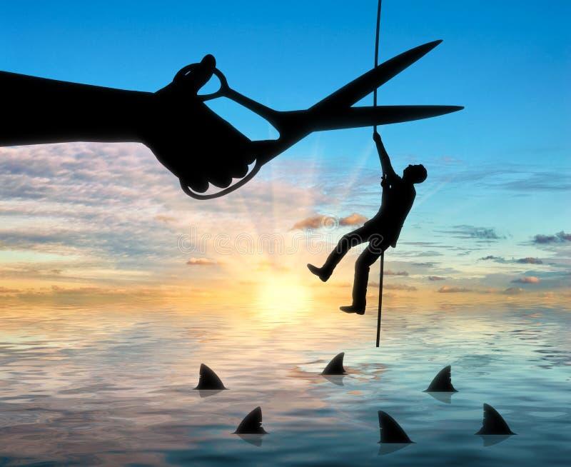 Begrepp av konkurrens och risker i affär royaltyfri illustrationer