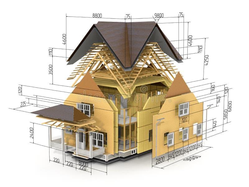 Begrepp av konstruktion stock illustrationer