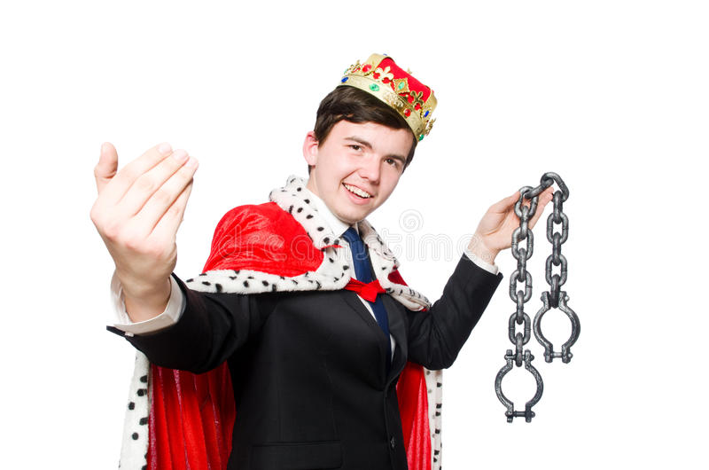 Begrepp av konungaffärsmannen arkivbilder