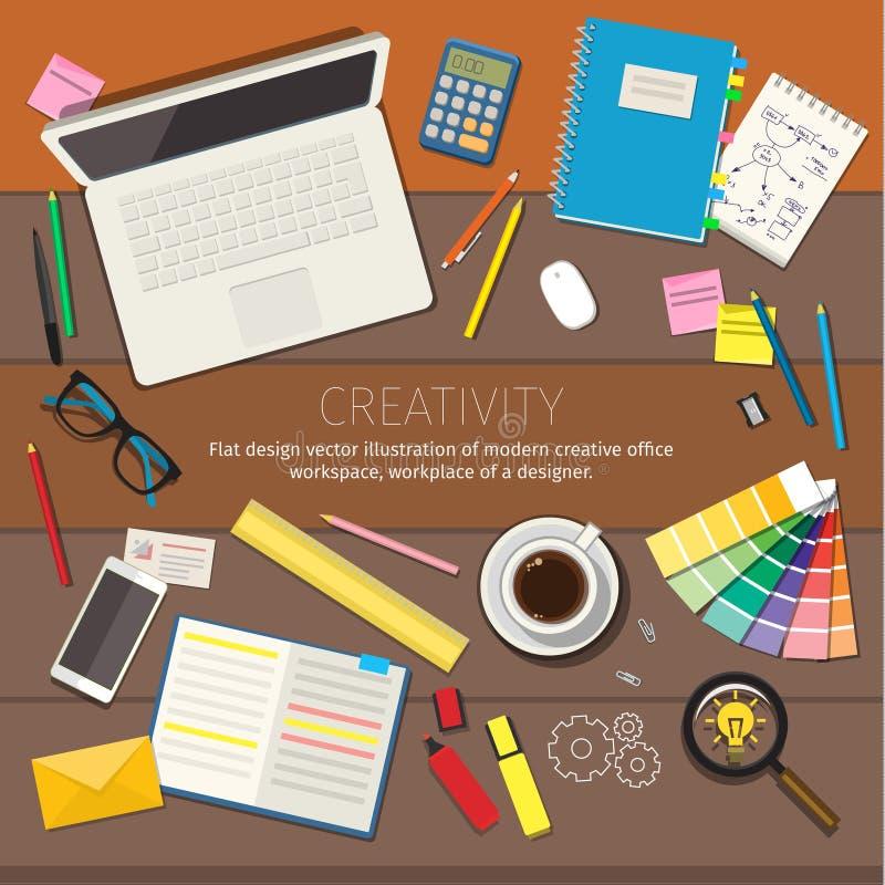 Begrepp av kreativitet vektor illustrationer