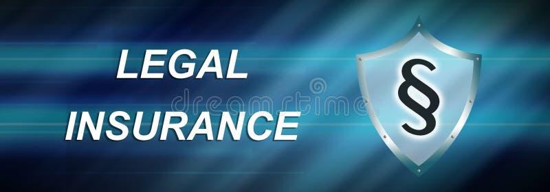 Begrepp av laglig försäkring vektor illustrationer